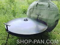 Сковорода из диска бороны 50см с крышкой и чехлом в комплекте