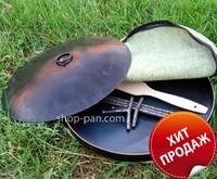 Сковорода 40см с крышкой и чехлом в комплекте